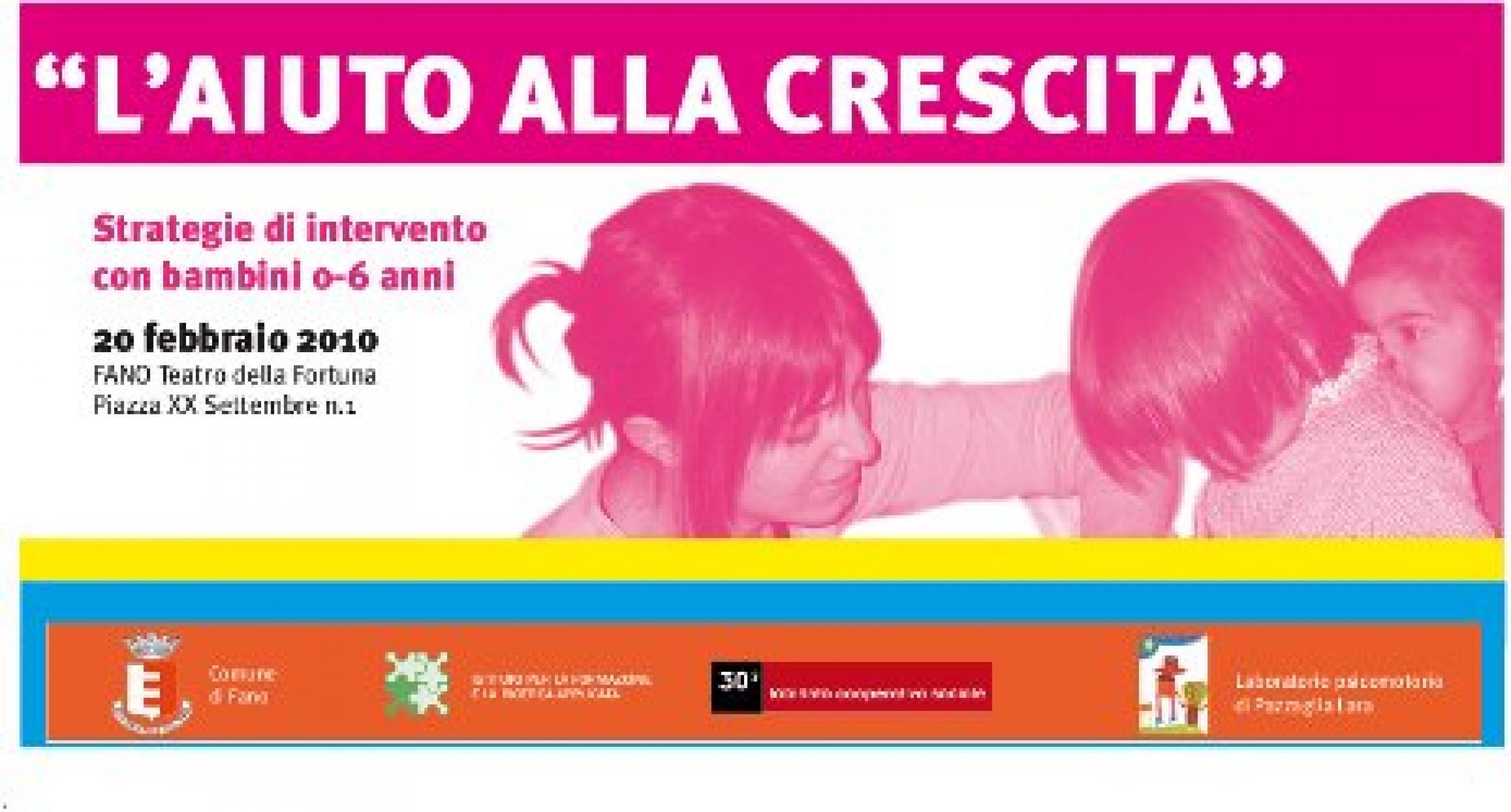 Convegno su l'aiuto alla crescita: strategie di intervento con bambini 0-6 anni